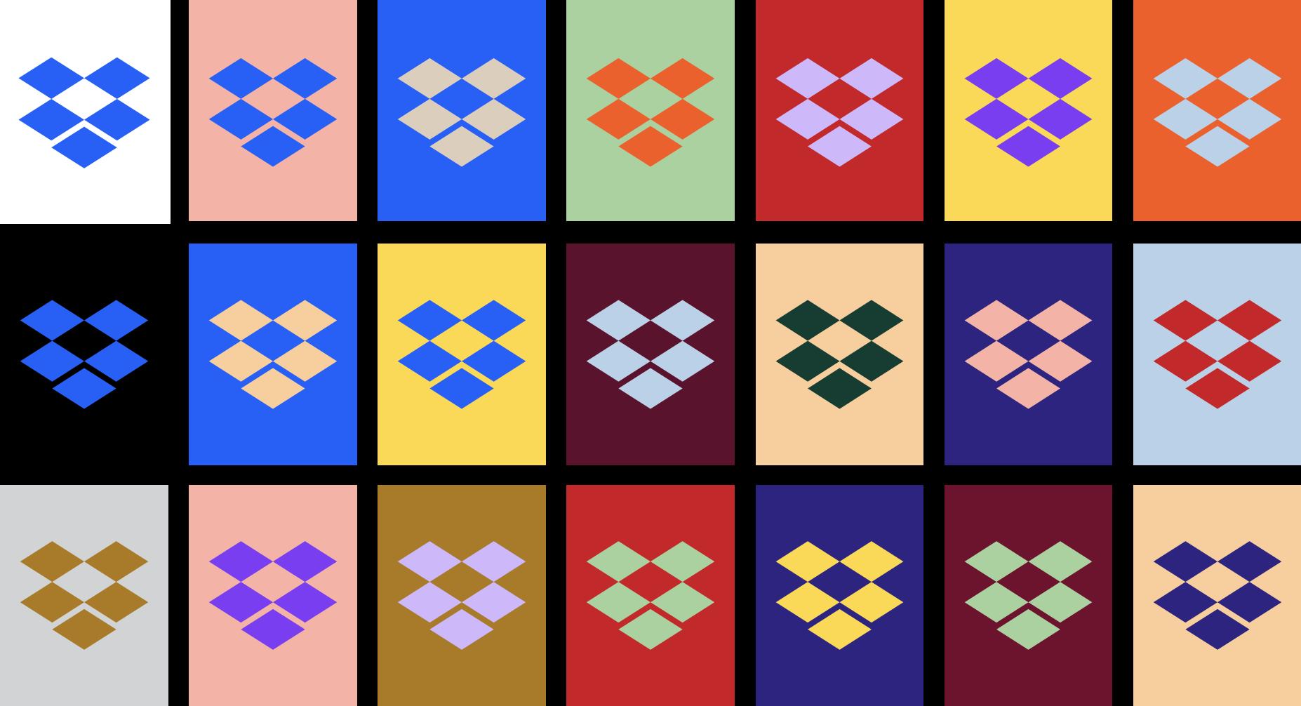 Kleurgebruik dropbox