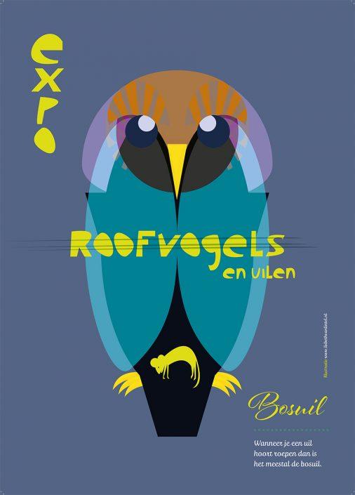 Lisbeth van Lintel IVN roofvogel poster