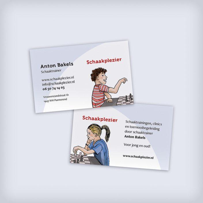 Lisbeth van Lintel schaakplezier visitekaartje