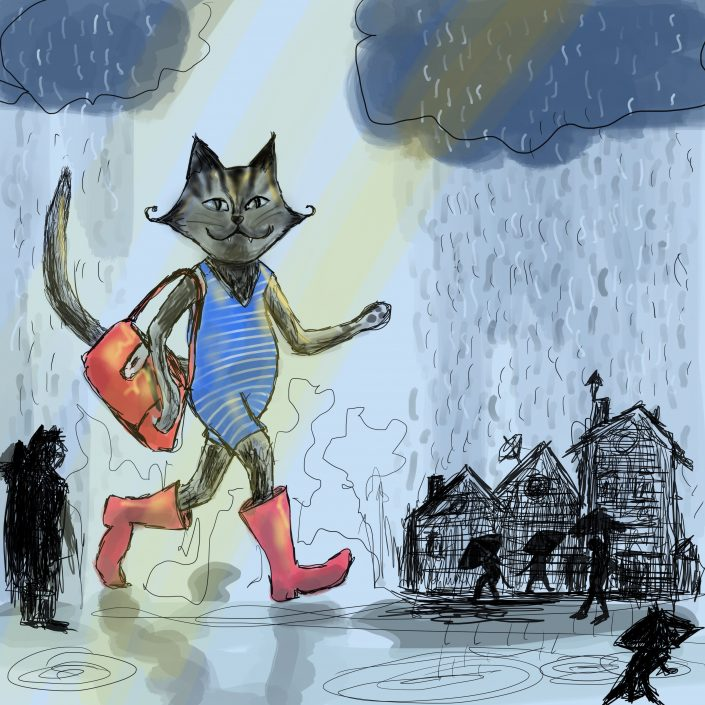 Lisbeth van Lintel blue cat